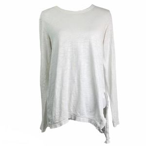 Wilt White Cotton Long Sleeve Top S